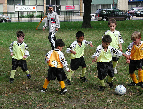 leadership lesson from kids playing soccer