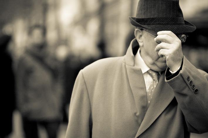Business Man Hiding Under His Hat